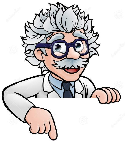 scientist-cartoon-character-pointing-down-professor-wearing-lab-white-coat-peeking-above-sign-93480370
